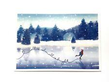 Hallmark Christmas Cards Ice Skating Pond 16 Cards 17 Self Sealing Envelopes NEW