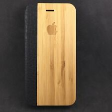 iPhone 8 Bamboo Wood Flip Case Cover With Kick Stand - 100% Wood ✅ & Leather  ✅
