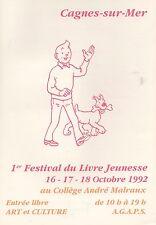 Tintin. Livret pour le festival Livre Jeunesse de Cagnes sur mer -. (réf. 81/41)