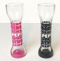 2 Peppermill Reno Nevada Tall Shot Glasses 1 Pink & 1 Black Barware Long Yard