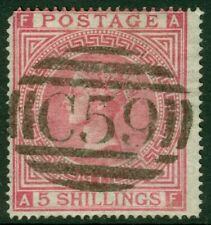 Edw1949Sell : Great Britain 1867 Sg #127 Used in Haiti. Nice stamp. Cat £650+