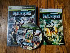 Xbox 360 Platinum Hits DEADRISING Complete CIB CLASSIC ZOMBIE CAPCOM
