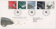 Gb royal mail fdc first day cover 1996 voitures de sport stamp set bureau pcm