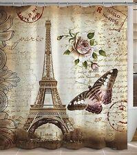 Paris Themed Shower Curtain Eiffel Tower Bathroom Decorating Ideas France Fabric