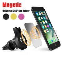Universal 360° Cell Phone GPS Air Vent Magnetic Stand Car Mount Cradle Holder