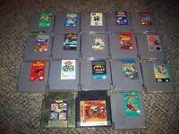 Lot of 18 Nintendo NES games