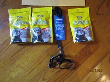 3 Packs Marshall Bandits Premium Ferret Treats + Harness & Lead Ships Free!