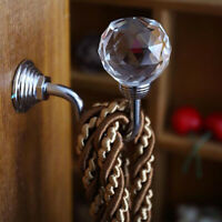 2Pcs/set Metal Crystal Curtain Holdback Wall Tie Backs Hooks Hanger Holder Acc