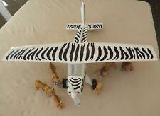 Schleich 42043 Safari  Flugzeug plus Tiger + Löwen