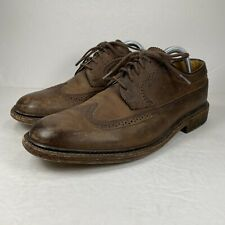 John A. Frye Mens Brown Leather Wingtip Oxford Shoe Size 9.5 D Mexico Made 85625
