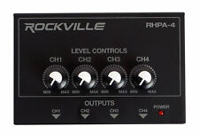 Rockville RHPA4 4 Channel Professional Headphone Amplifier Stereo or Mono Amp
