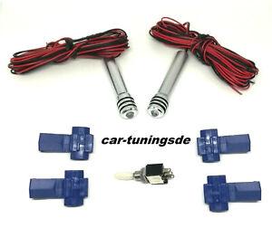 Led Türpinne für Opel Doorpins in Rot mit Schalter Alarmanlagen optik