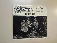 "TIGER BOYS: Kiss Of An Angel- I'm A Tiger-U.S. 7"" 1965 Galactic 1002 w/Rare PSL"