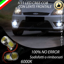 COPPIA LUCI FENDINEBBIA H11 LED CREE COB CANBUS FORD FIESTA V 6000K