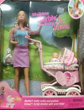 Mattel Walking Barbie & baby Krissy   New.