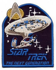 "Star Trek: Next Generation Series  4"" Logo w Ship Patch - FREE S&H  (STPAT-NG1)"