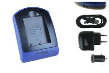 Cargador (USB) NP-W126 para Fuji Fujifilm FinePix HS30EXR, HS33EXR, HS50EXR