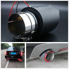Red LED Light 63MM Matte LED Carbon Fiber Exhaust Tip Auto Muffler Pipe 1PC