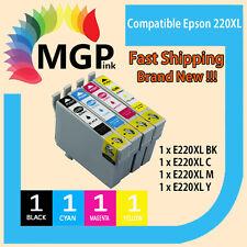 4x Epson 220 Ink Set BK/C/M/Y- WorkForce WF-2630/WF-2650/WF-2660