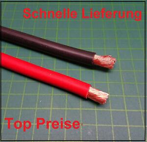 Kabel Photovoltaik Batteriekabel kupfer H07VK  4mm² 6mm² 10mm² 35mm² Schwar Rot