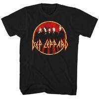 Def Leppard Group Photo Mens T Shirt Logo Rock Band Album Tour Music Merch Black