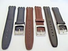 cinturini pelle x swatch normale vari colori ansa 17 mm fibbia acciaio essenzial