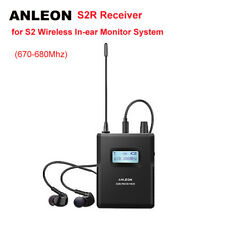 ANLEON S2R Receiver For In-ear Wireless Monitor System Stage UHF IEM 670-680Mhz