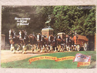 1976 Budweiser 2 page Ad Pulling for America for 100 years MANCAVE ART !!