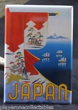 "Japan Vintage Travel Poster 2"" X 3"" Fridge / Locker Magnet."