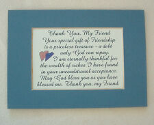 FRIENDSHIP Gift Priceless Treasure FRIEND God Bless You verses poems plaques
