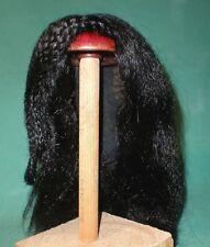"""Peluca de muñeca/cabello humano 14"""" a 15"""" Negro longitud del hombro, trenzas en el lado pequeño"""