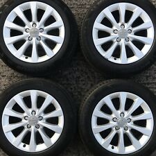 "Set Genuine Audi A6 17"" Alloy Wheels SLine 225 55 Michelin AO Tyres 10 spoke 4G"