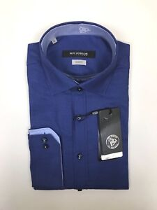 """Roy Robson - Birdseye Shape Fit - Royal Blue -Size 15"""" - *NEW WITH TAGS* RRP £65"""