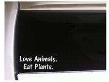 "Love Animals Eat Plants Car Decal Vinyl Sticker 6"" L57 Vegan Vegetables"