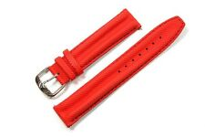 Jacques Lemans Ersatzband Uhrenarmband Textil - Lederband Rot 19mm Stegbreite