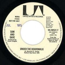 "SAM & DAVE promo 45:  ""Under the Boardwalk""  United Artists  1974  VG"
