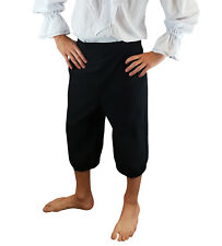 Mens Pirate Breeches 3/4 Length Trousers LARP Caribbean Fancy Dress Accessory