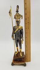 """EXQUISITE BRONZE 22K STATUE SOLDIER BY GIUSEPPE VASARI SIGNED NUMBERED 13"""" TALL"""