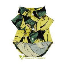 "Fitwarm 14""Chest Summer Banana Dog Polo Shirt Medium Pet Clothes Cotton Tank Tee"