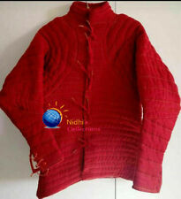 Medieval Costume Gambeson Reenactment Theater Red Color Good Looking