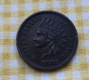 Decent Grade 1882 Indian Head US 1 cent coin