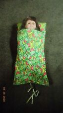 Doll Sleeping Bag, Handmade with Kermit the Frog Fabric (no doll/bear)