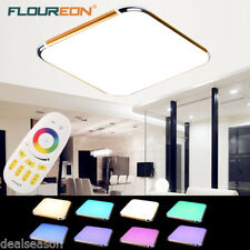 30W Dimming RGB LED Ceiling Light Chandelier Fixture Lamp Living Bedroom Remote