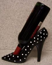 Wine Bottle Holder and/or Decorative Sculpture Party Shoe Polka Dot Heel NEW