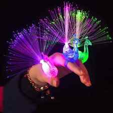 1Pc Fun Party Bar lamp Night Electronic Toys Finger Light Peacock Children Gifts