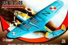 PZL 37 B LOS - WW II BOMBER (POLISH AF & LUFTWAFFE MKGS) 1/48 MIRAGE RARE!