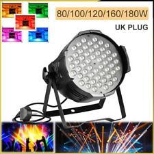 80/100/120/160/180W LED Stage Light RGB Par 54/60 DMX Disco Club Party+UK Plug