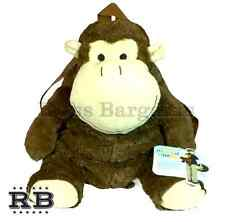 NEW Kids Super Soft Cute Plush Monkey Zipper Storage Adjustable Animal Backpack