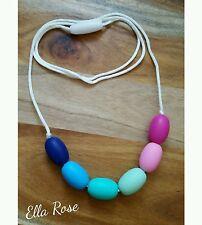 Silicone Fashion Necklace Women's Girls Jewellery No BPA Non-Toxic Washable