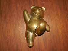 Brass ~ Panda Teddy Bear ~ Wall Hanger / Coat Hook ~ Vintage